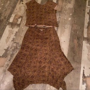 Liz Claiborne 90s skirt and top set size M